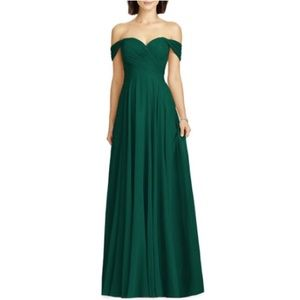 Dessy Collection | Chiffon Hunt Off-Shoulder Gown